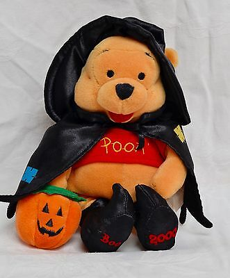 """Disney Winnie The Pooh Beanie Plush   Witch Pooh Halloween 6"""" Collectable"""