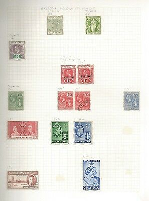 Page Of Virgin Island Stamps