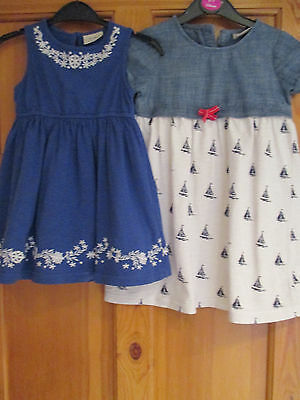 Girls Dresses(2 Items).  Age 2-3 Years.  From Next.