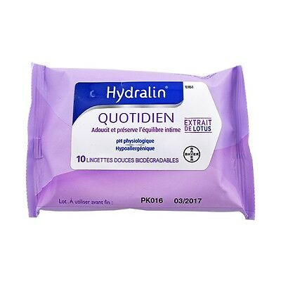 Hydralin Apaisa Lingettes Intimes 10 Lingettes