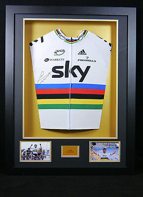 Mark Cavendish signed Rainbow Jersey 3D Frame with COA
