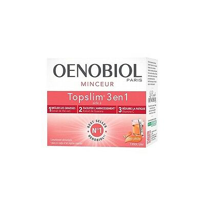 Oenobiol Top Slim 3 en 1 Goût Pêche 14 sticks
