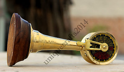 Solid Brass Marine Telegrpah Vintage Nautical Ship Engine Room Telegraph Decor