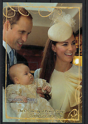 Gambia 2014 MNH Christening Prince George 1v S/S William & Kate Royalty Stamps