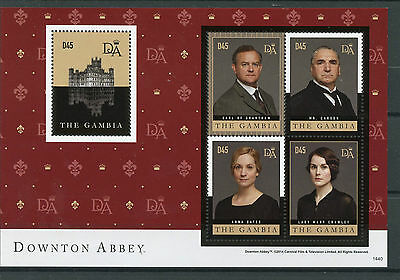 Gambia 2014 MNH Downton Abbey 4v M/S I Earl Grantham Carson Lady Crawley Stamps