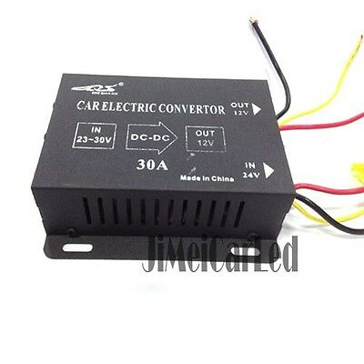 24V to 12V Power Converter Transistorized Voltage Reducer 24 Volt To 12 Volt 30A