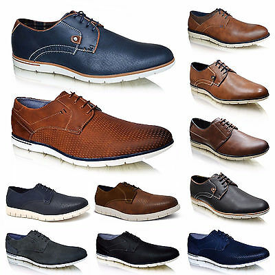 NEW Mens Casual Smart Lace Up Brogues Office Formal Shoes SIZES UK 6 7 8 9 10 11