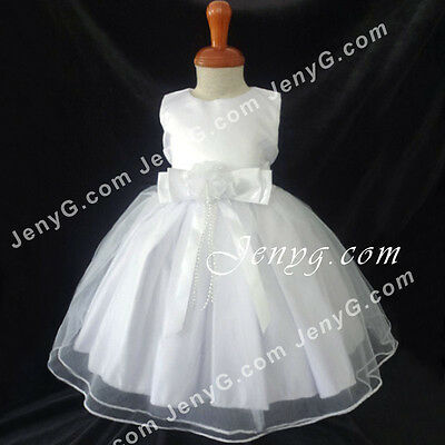 BBW7 Baby Girl Christening Baptism First Holy Communion Church Formal Gown Dress