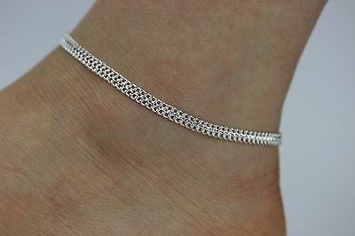 Simple Silver Ankle Chain Anklet Indian Payal Foot Chain Single Or Pair