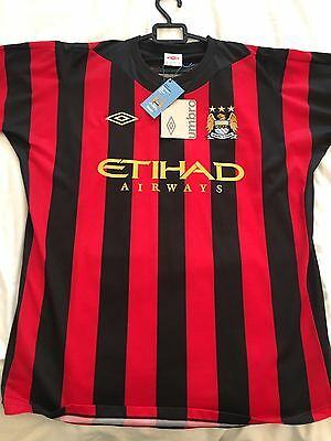 Manchester City Sergio Aguero Football Shirt Size 44 (large) New With Tags