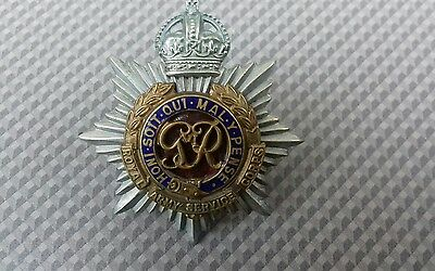 Royal Army Service Corps Officers 100% Original Cap Badge.