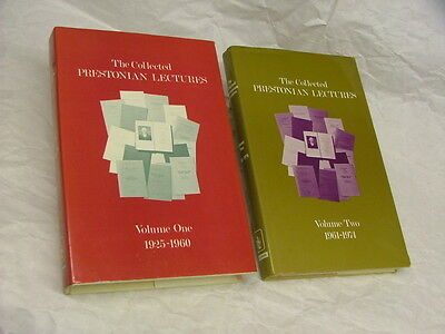 The Collected Prestonian Lectures Volumes One (1925-1960) and Two (1961-1974).