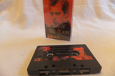 THE CLASH  - The Story Of The Clash Vol 1 Tape 1 - Music Cassette - 1988 VG