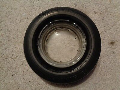 Vintage Pennsylvania Patrician Rubber Tire Ashtray With Clear Glass