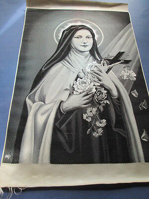 Antique silk apllique -St- Theresia--NF-/France