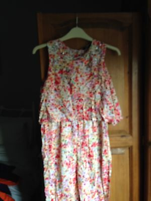 Girls Floral Jumpsuit Age 10-11