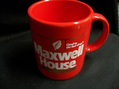 Maxwell House Instant Coffee Cup Mug Good to Last Drop Red