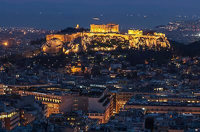 """""""Sacred Rock of Acropolis by night"""" Fine Art Photography Print"""
