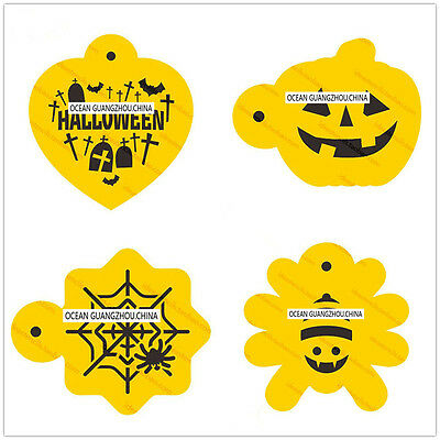 4 Pcs Packed Halloween S Cookie Cake Stencil Decorate Mould Fondant Biscuit Tool