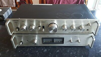 Toshiba SC-330 vintage Power-Amplifier and SY-330 Pre Amp
