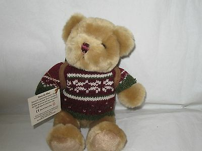 The Teddy Bear Collection Henry The Hiker Plush Bear In Jumper & Rucksack New