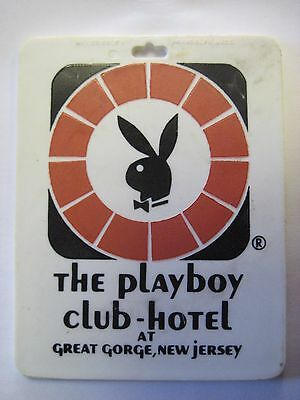 Early Design Playboy Club Hotel And Resort Great Gorge Mcafee Nj Golf Bag Tag