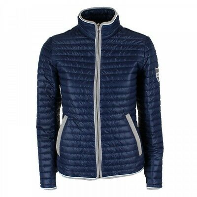 Animo Ladies Lumi Jacket blue lightweight quilted riding coat competition show