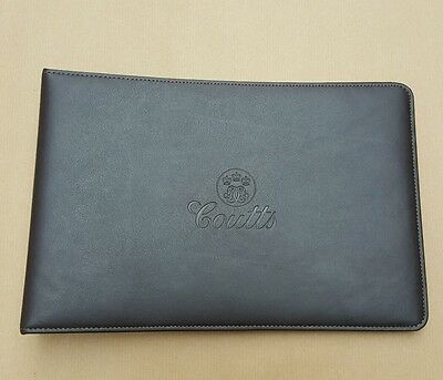 Coutts leather folder