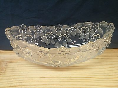 Mikasa Walther Crystal Carmen pattern Large Oval Fruit Bowl Compote Dish Germany