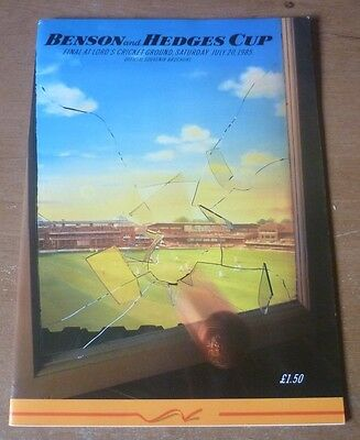 1985 - Essex v Leicestershire, Benson & Hedges Cup Final Match Programme.