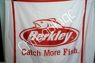 Berkley fishing gear Catch More Fish LARGE 4x4 banner poster sign advertisement