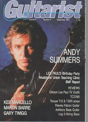 Guitarist Magazine  September 1987 Vol.4 No.4  Andy Summers    Ls