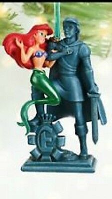 New DISNEY STORE The Little Mermaid Ariel and Eric 2013 Sketchbook Ornament
