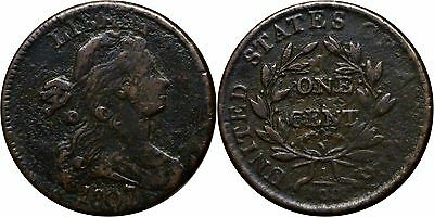 1807/6 1C Large Cent Draped Bust Very Fine Details