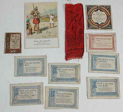 Vintage Religious Lot Paper Picture Lesson Tract Society Psalms