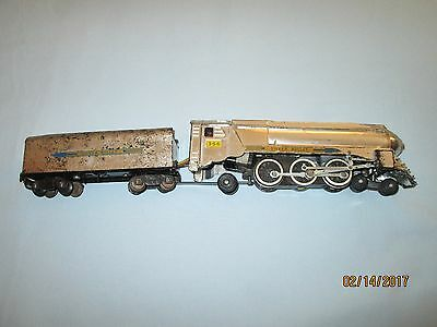 American Flyer #356 Chrome Silver Bullet Locomotive/Tender. Runs & Smokes Well.