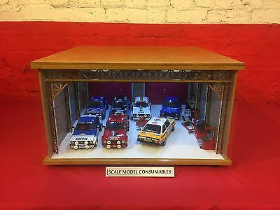 1:18 1/18 1-18 118 Scale Ford Escort Complete Diorama Garage With Tools & Cars
