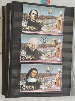 Malta Stamps 2001 - Three Unofficial Miniature Sheets - Pope's Visit - Mnh