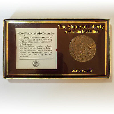 1886-1986 Statue Of Liberty Authentic Medallion • Proof • Authenticity • Rare!