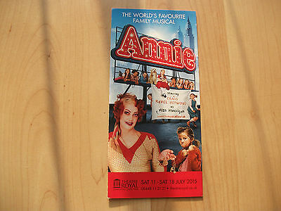 **Annie The Musical Flyer At Theatre Royal Newcastle**