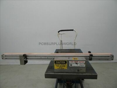 """Flat Belt Conveyor 2"""" X 48"""" With Motor 1/12 Hp 90VDC ( Used and Tested )"""
