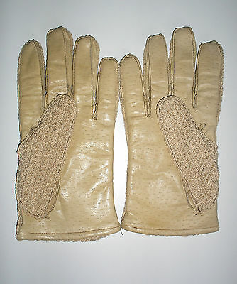 Ladies leather string back gloves size 9.5