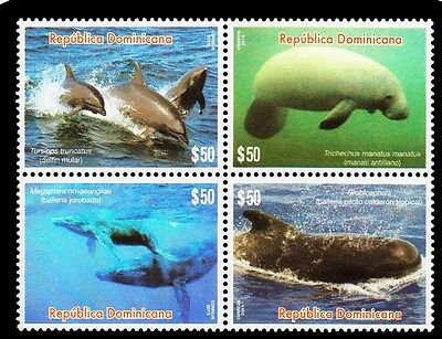 Dominican Republic Sea Mammals Block of 4 MNH 2016 NEW
