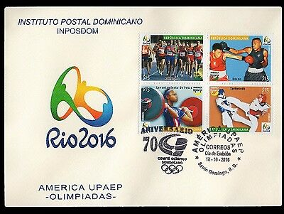 Dominican UPAEP Olympics Rio 2016 Athletics,Boxing,Weightlifting,Taekwondo FDC