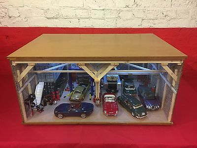 1:18 1/18 1-18 118 Scale Jaguar Complete Diorama Garage With Tools & Cars