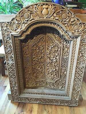 Hand carved wooden windows