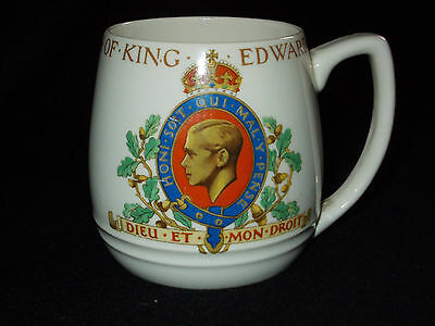 J & G Meakin 1937 Coronation Of King Edward Viii Ceramic Mug