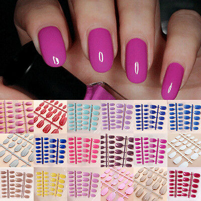 Nail 24 Pcs Designer Acrylic French False Full Tips Nails