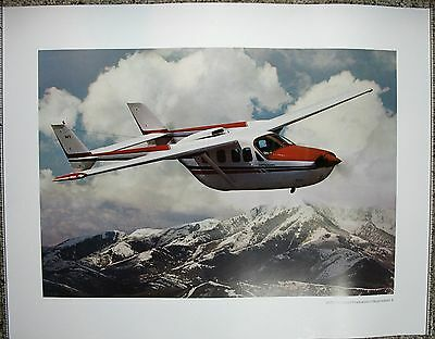 1979 Cessna Pressurized Skymaster II Aviation Aircraft Poster Print