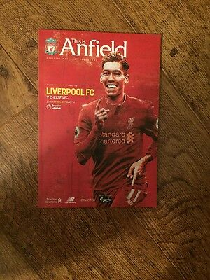 Liverpool FC V Chelsea FC Official Match Day Programme